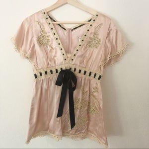 Nanette Lepore Pink Silk Blouse